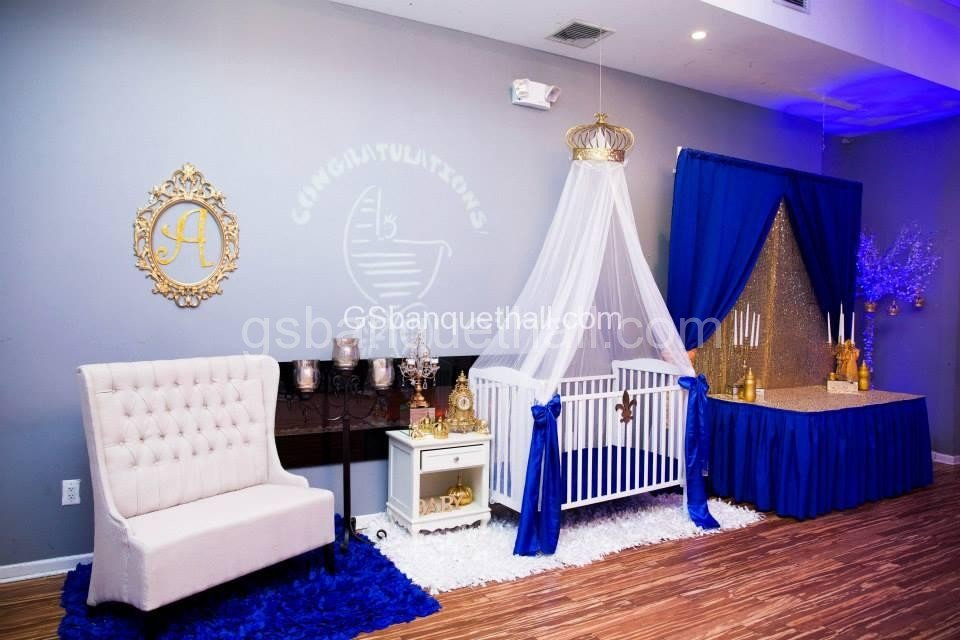 Baby Shower Backdrop Hire ~ Prince baby shower