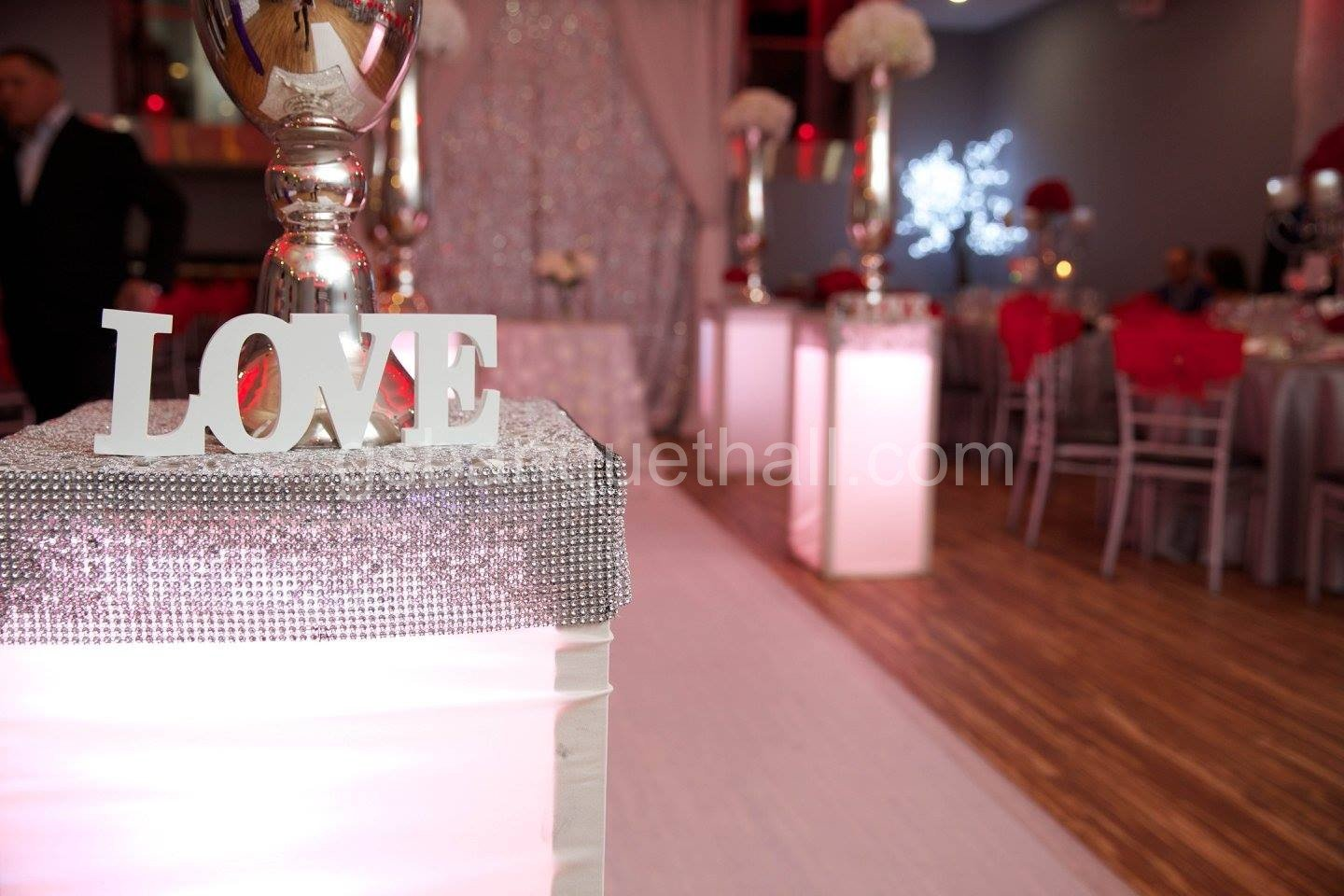 Red Romance wedding Red theme decoration Party decoration