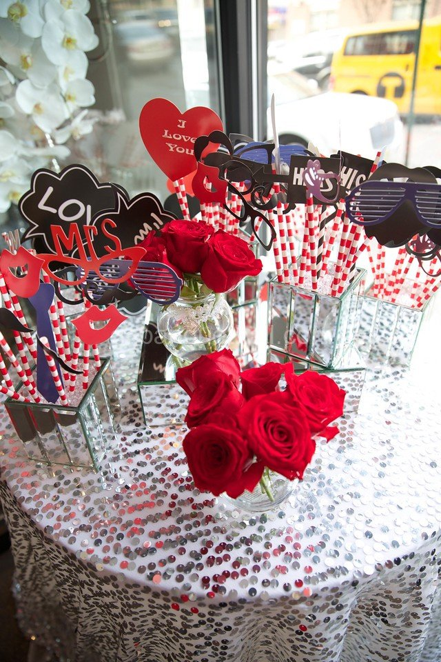 Red Romance wedding - Red theme decoration - Party decoration