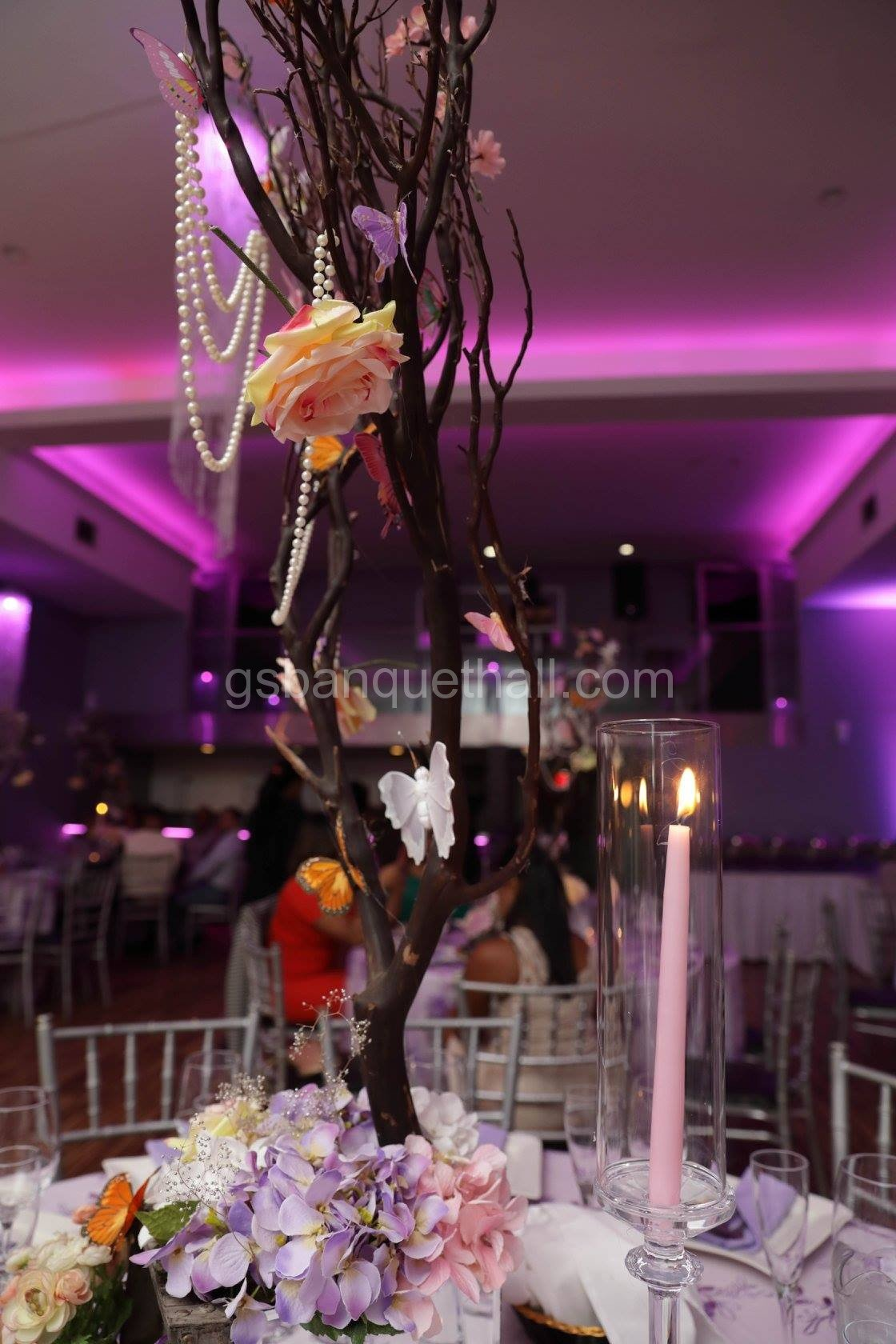 Flowers and butterflies butterflies wedding decoration shop for hanging birthday decorations birthday banners table decorations confetti and more wedding hall banquet hall party decorations junglespirit Image collections