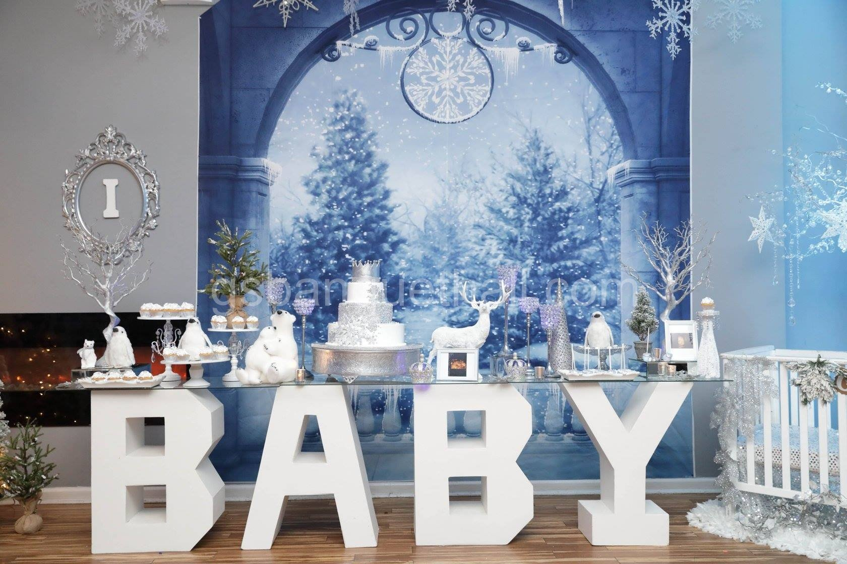 Winter Wonderland Baby Shower Christmas Party
