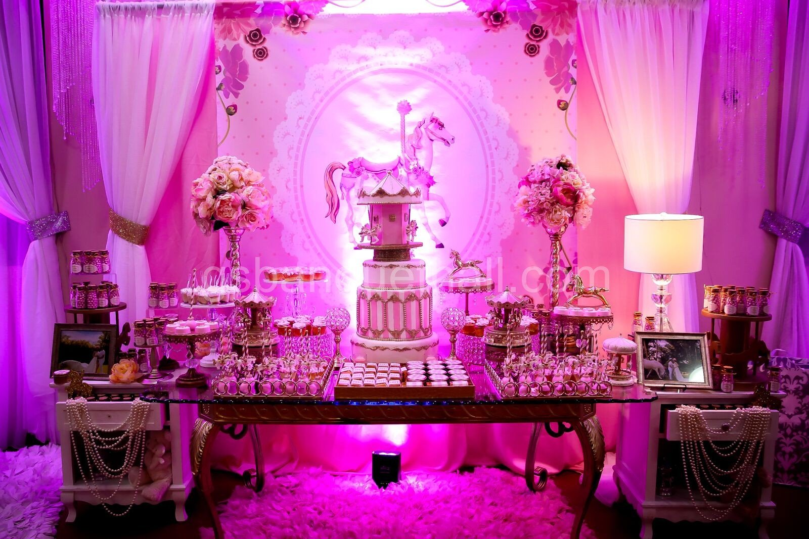 Carousel Baby Shower - Vintage event decoration.